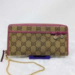 Authentic Preowned Gucci zippy Wallet